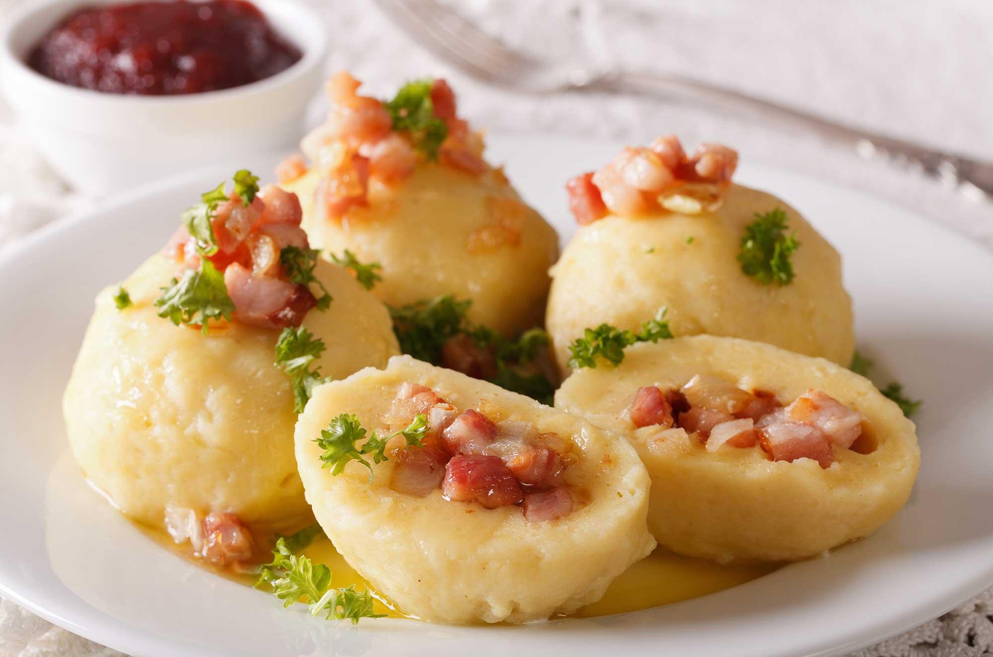 Gnocchi di patate ripieni di pancetta